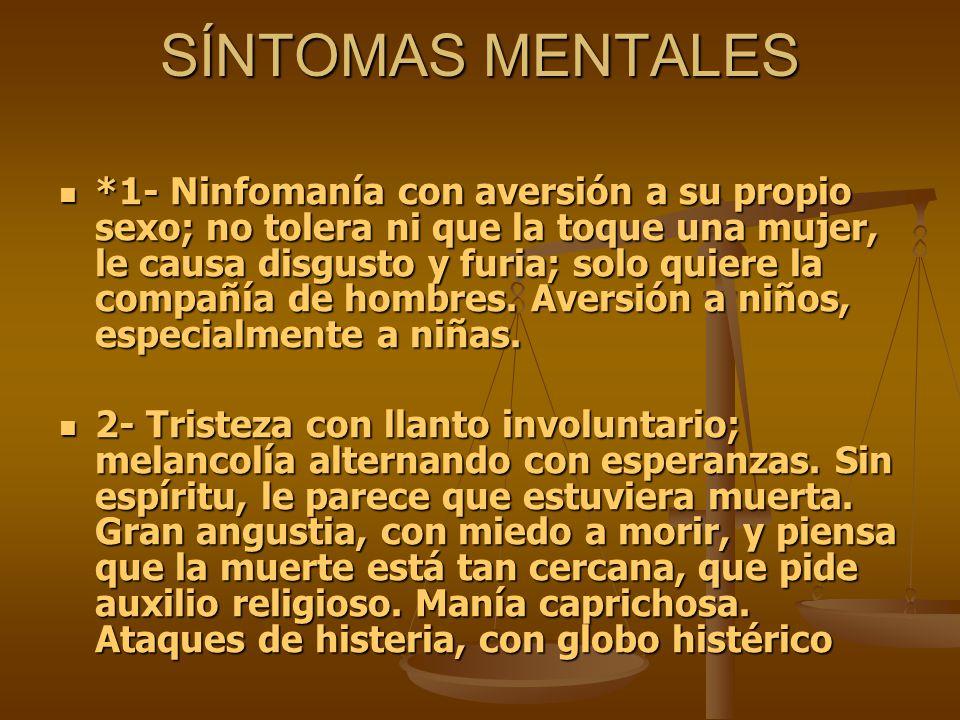 SÍNTOMAS MENTALES
