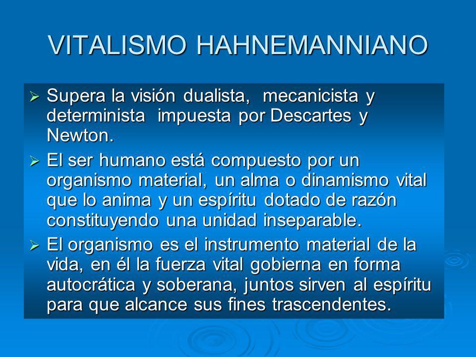 VITALISMO HAHNEMANNIANO