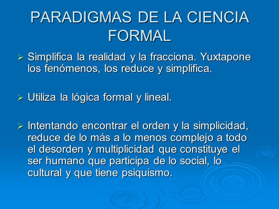 PARADIGMAS DE LA CIENCIA FORMAL