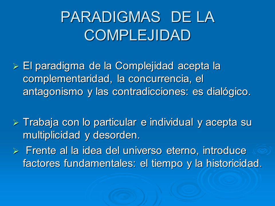 PARADIGMAS DE LA COMPLEJIDAD