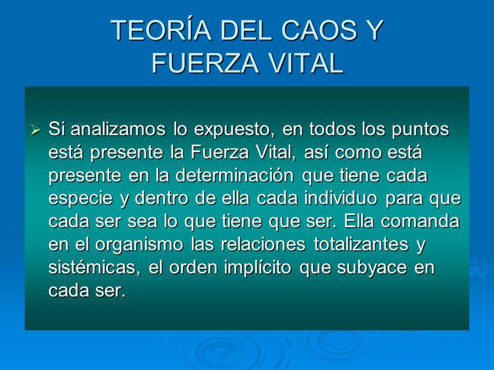 TEORÍA DEL CAOS Y FUERZA VITAL