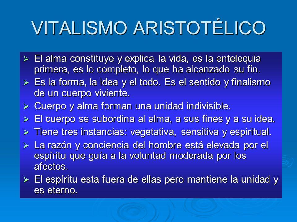 VITALISMO ARISTOTÉLICO