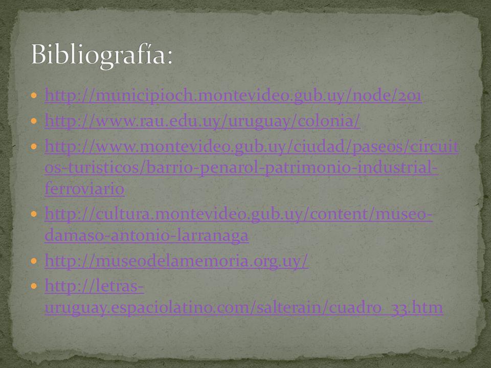 Bibliografía: http://municipioch.montevideo.gub.uy/node/201