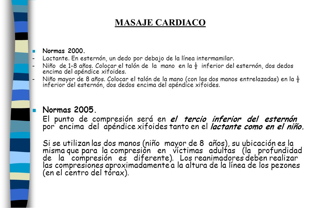 MASAJE CARDIACO Normas 2005.