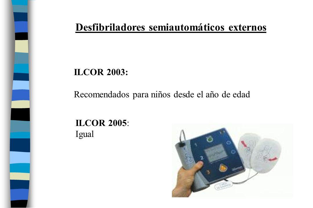 Desfibriladores semiautomáticos externos