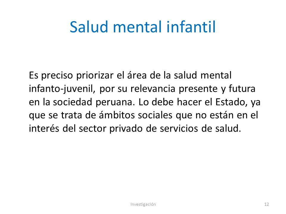 Salud mental infantil