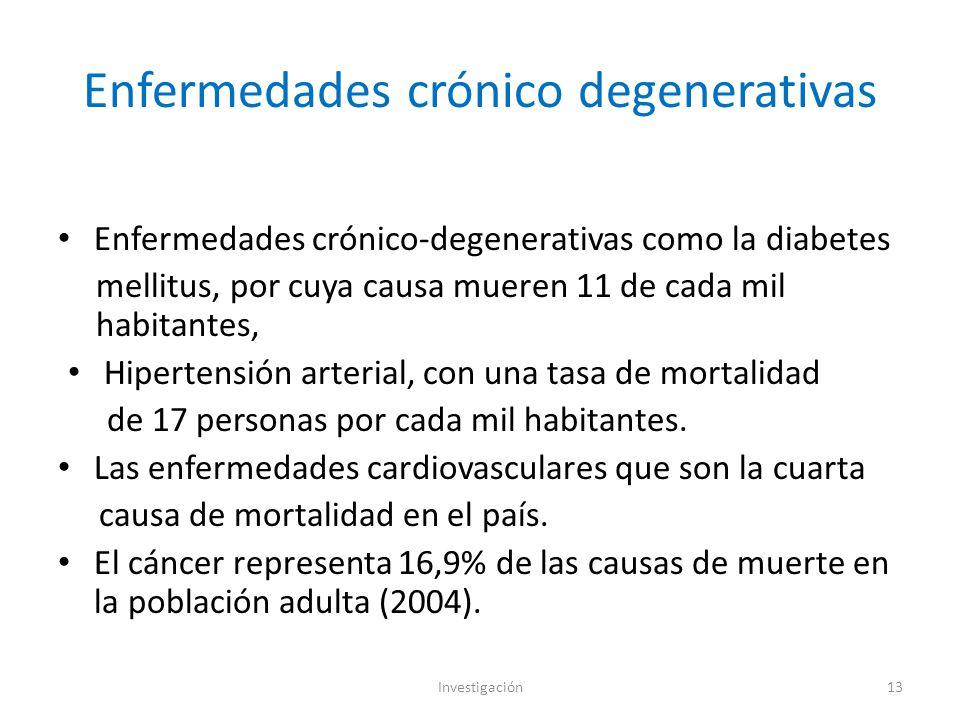 Enfermedades crónico degenerativas