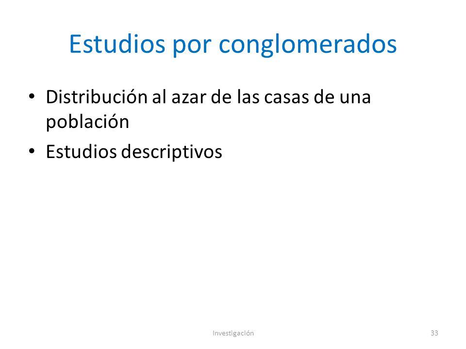 Estudios por conglomerados