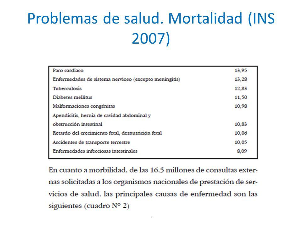 Problemas de salud. Mortalidad (INS 2007)