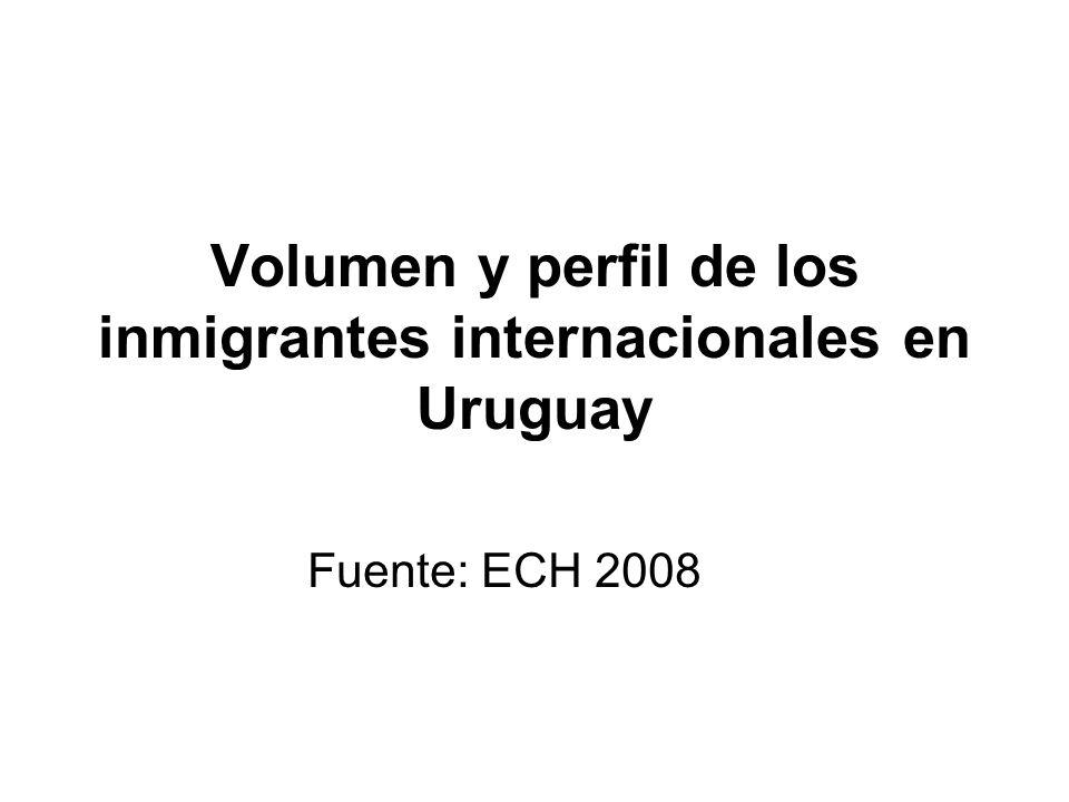 Volumen y perfil de los inmigrantes internacionales en Uruguay