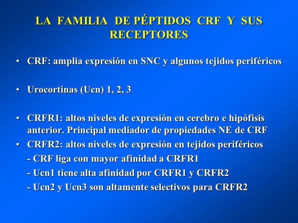 LA FAMILIA DE PÉPTIDOS CRF Y SUS RECEPTORES