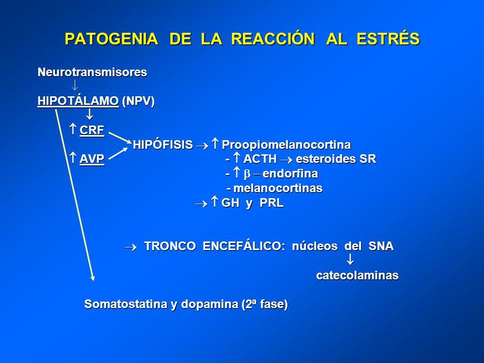 PATOGENIA DE LA REACCIÓN AL ESTRÉS