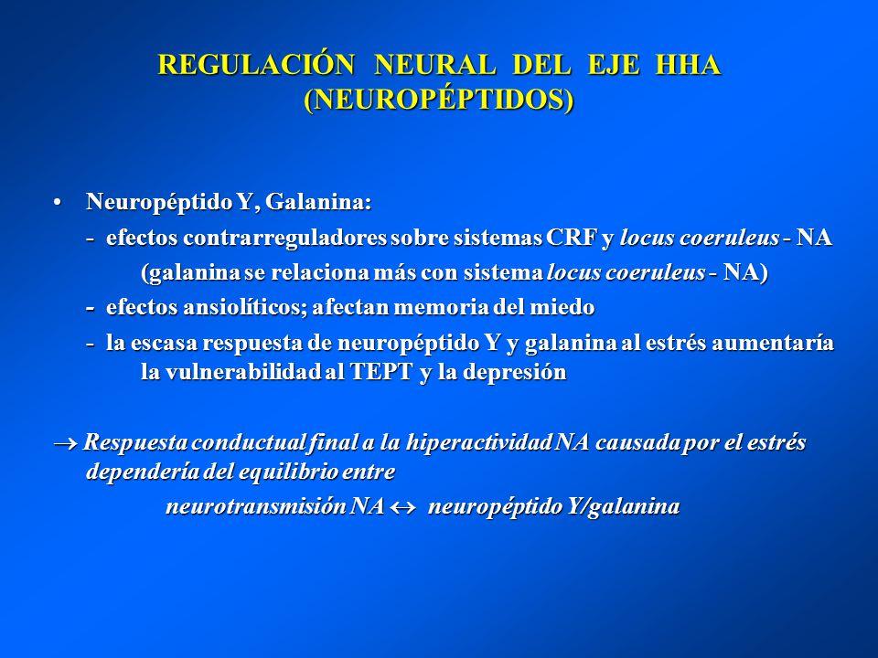 REGULACIÓN NEURAL DEL EJE HHA (NEUROPÉPTIDOS)