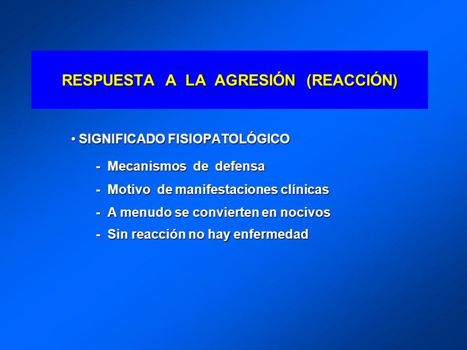 RESPUESTA A LA AGRESIÓN (REACCIÓN)