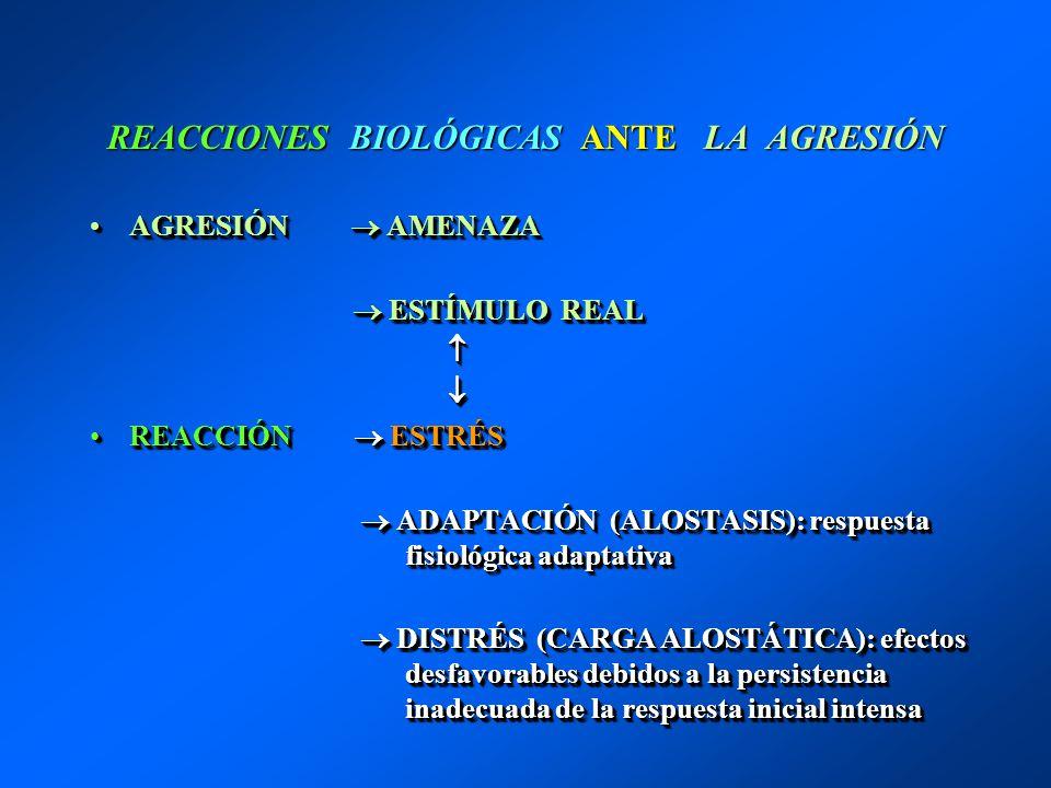 REACCIONES BIOLÓGICAS ANTE LA AGRESIÓN