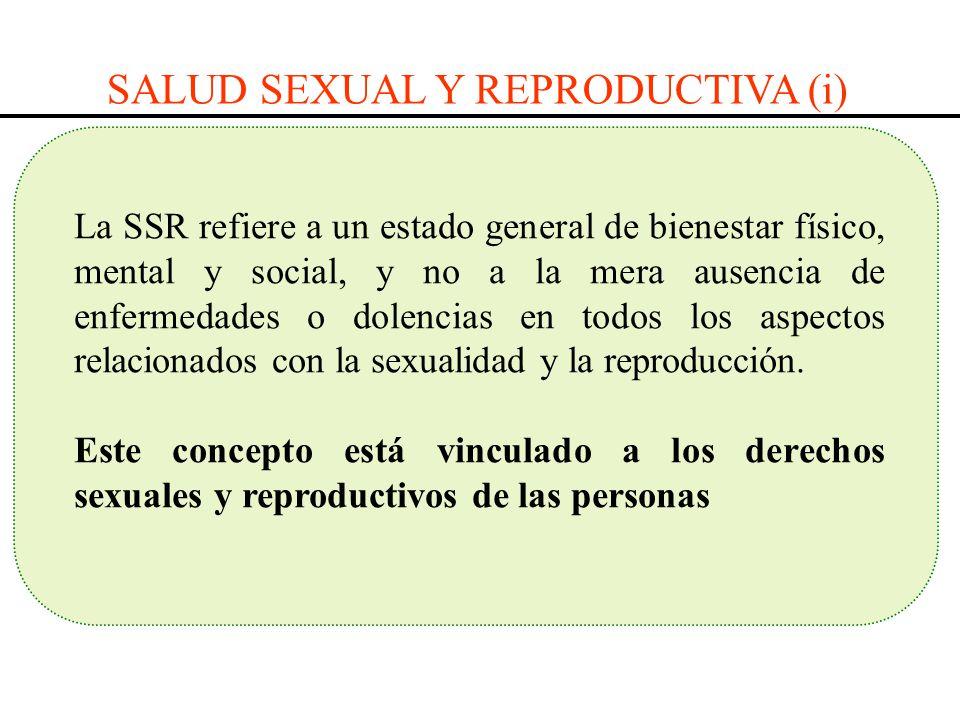 SALUD SEXUAL Y REPRODUCTIVA (i)