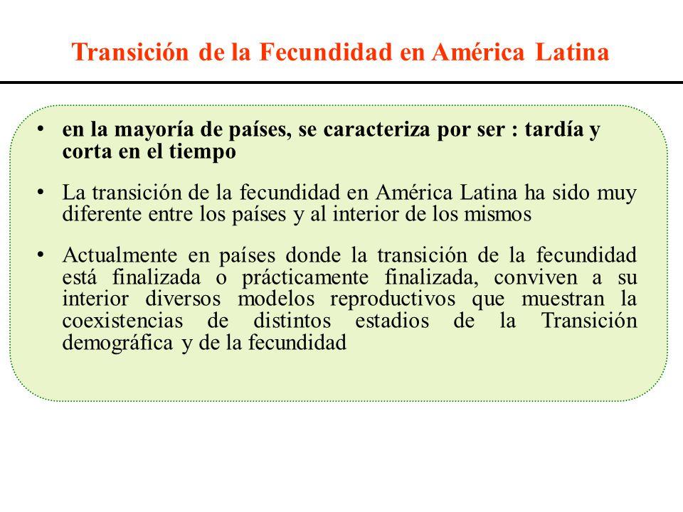 Transición de la Fecundidad en América Latina