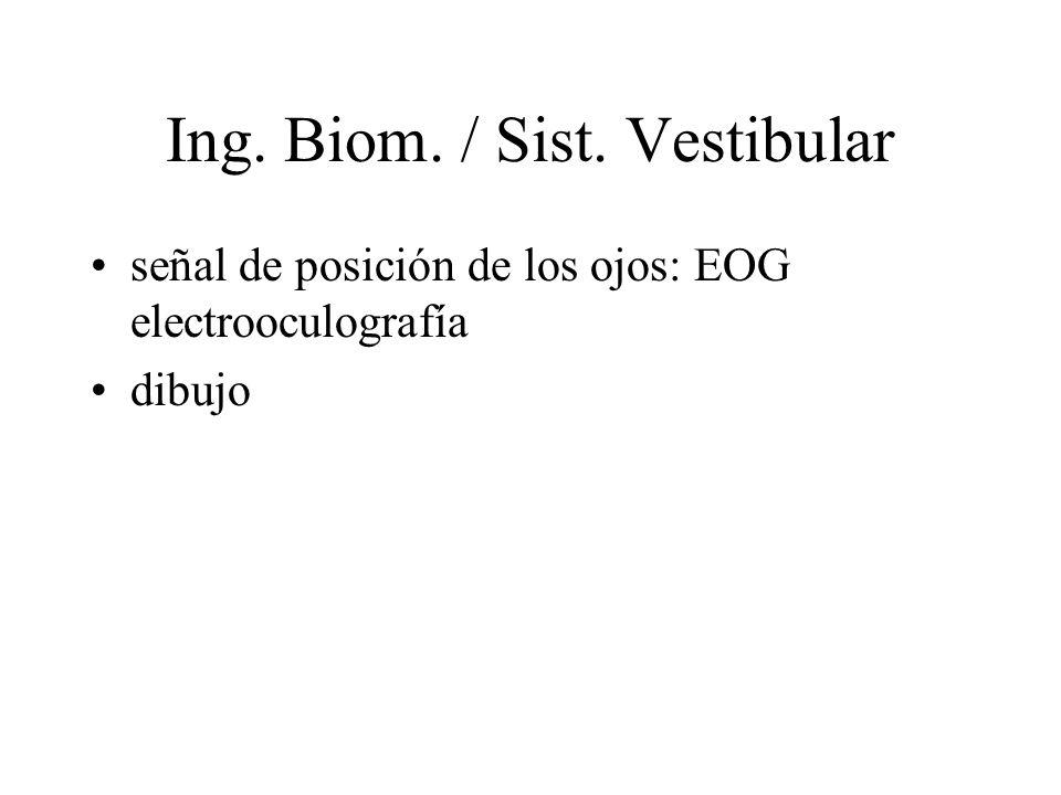 Ing. Biom. / Sist. Vestibular