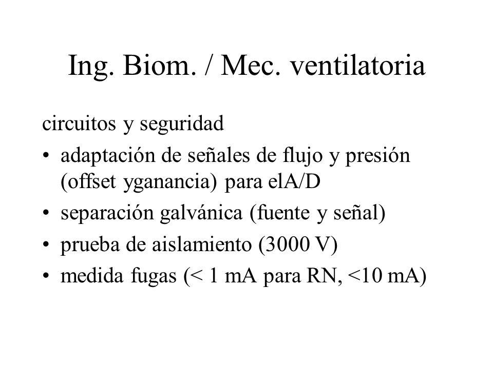 Ing. Biom. / Mec. ventilatoria
