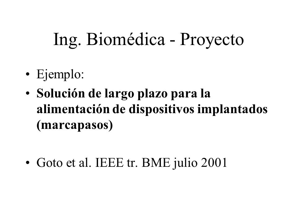 Ing. Biomédica - Proyecto