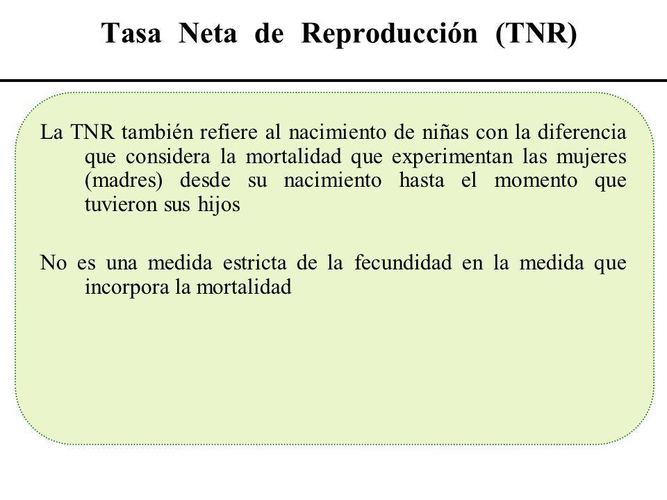 Tasa Neta de Reproducción (TNR)