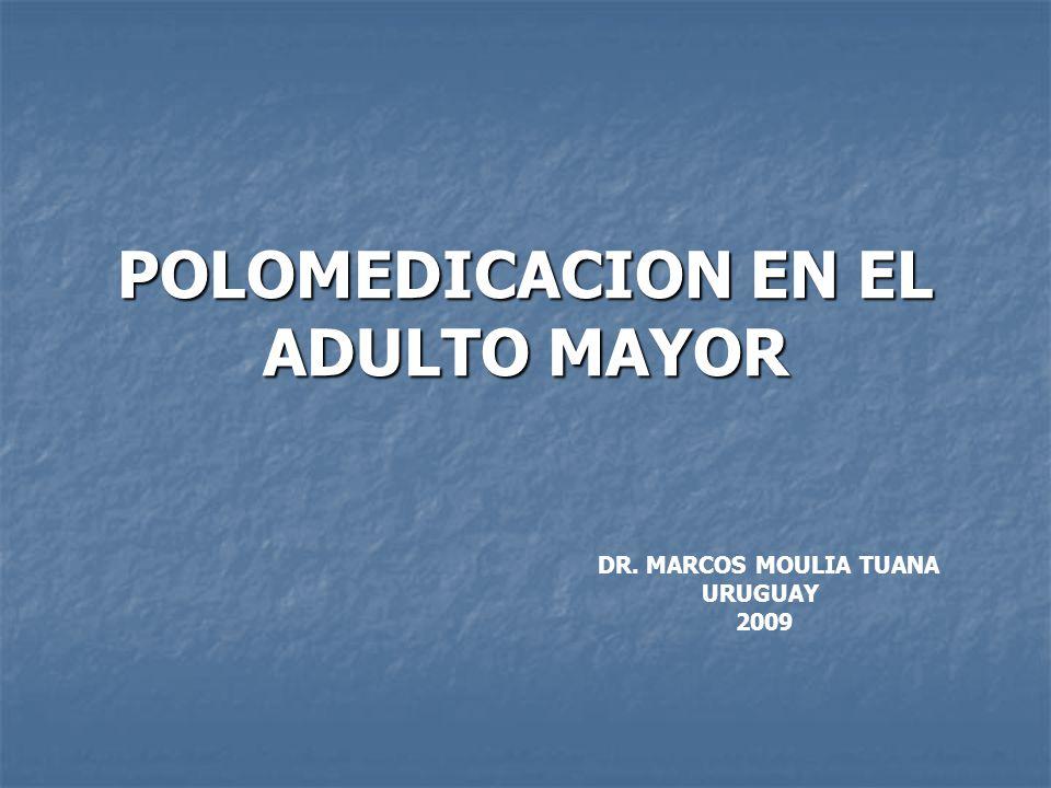 POLOMEDICACION EN EL ADULTO MAYOR