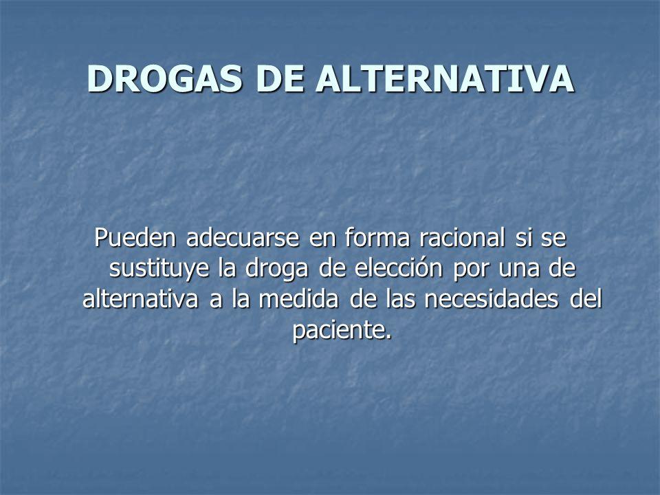 DROGAS DE ALTERNATIVA