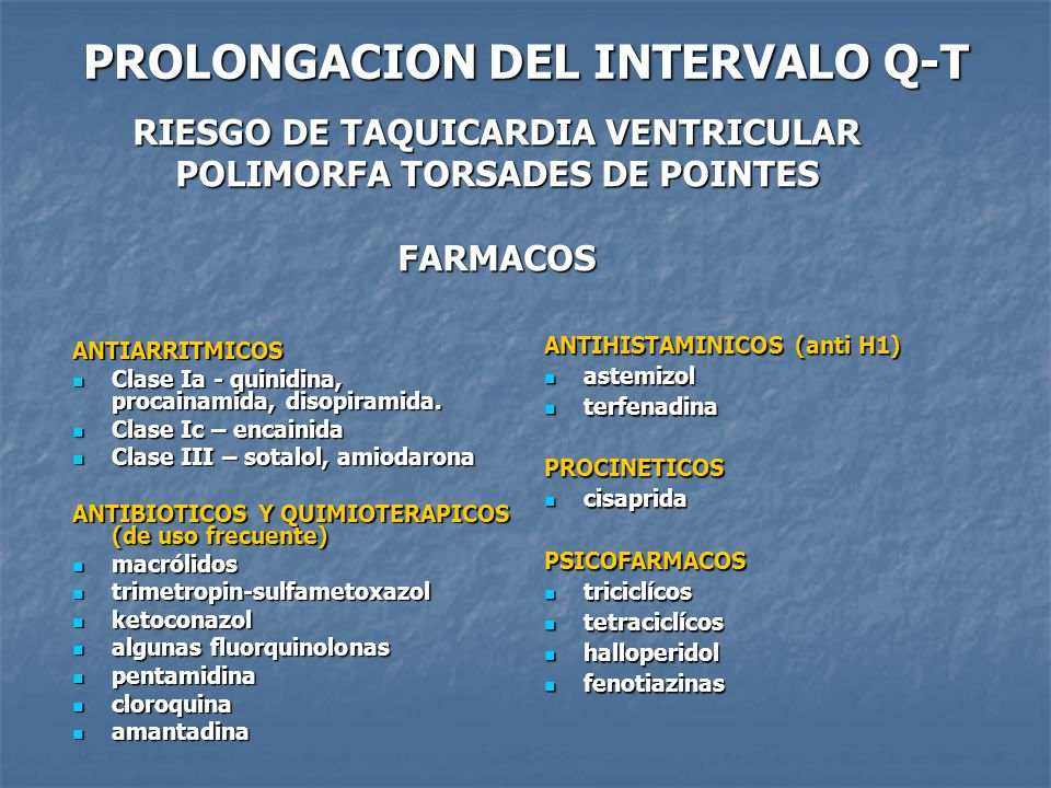PROLONGACION DEL INTERVALO Q-T