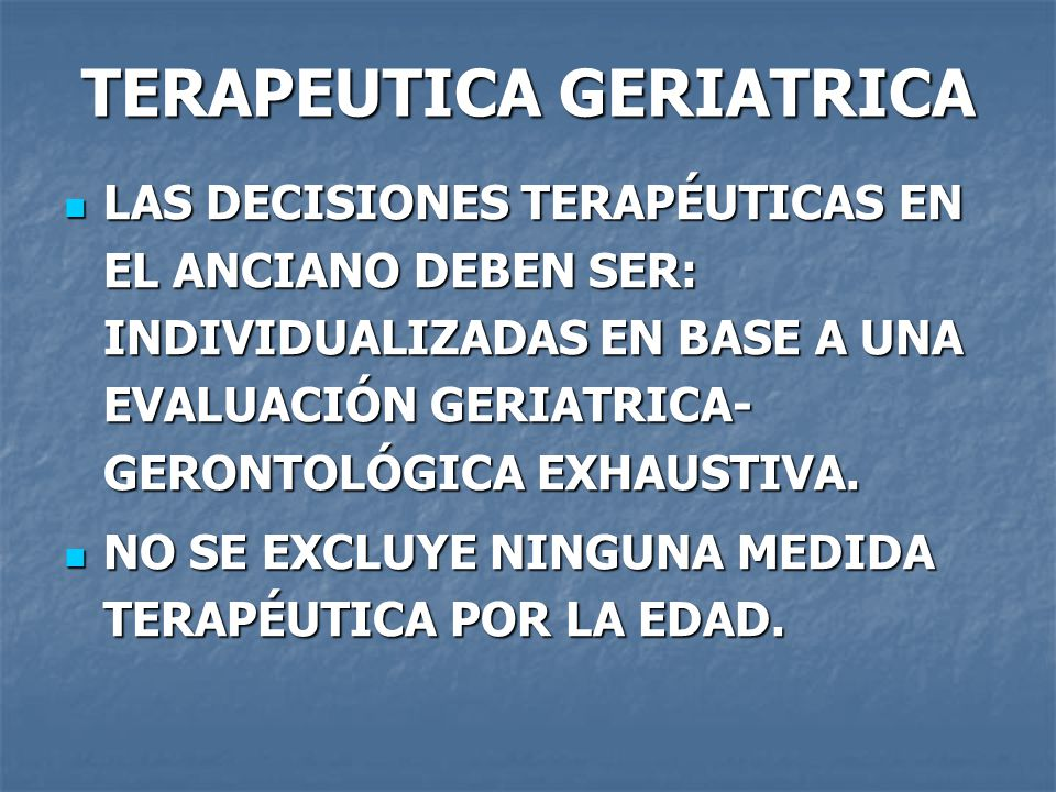 TERAPEUTICA GERIATRICA