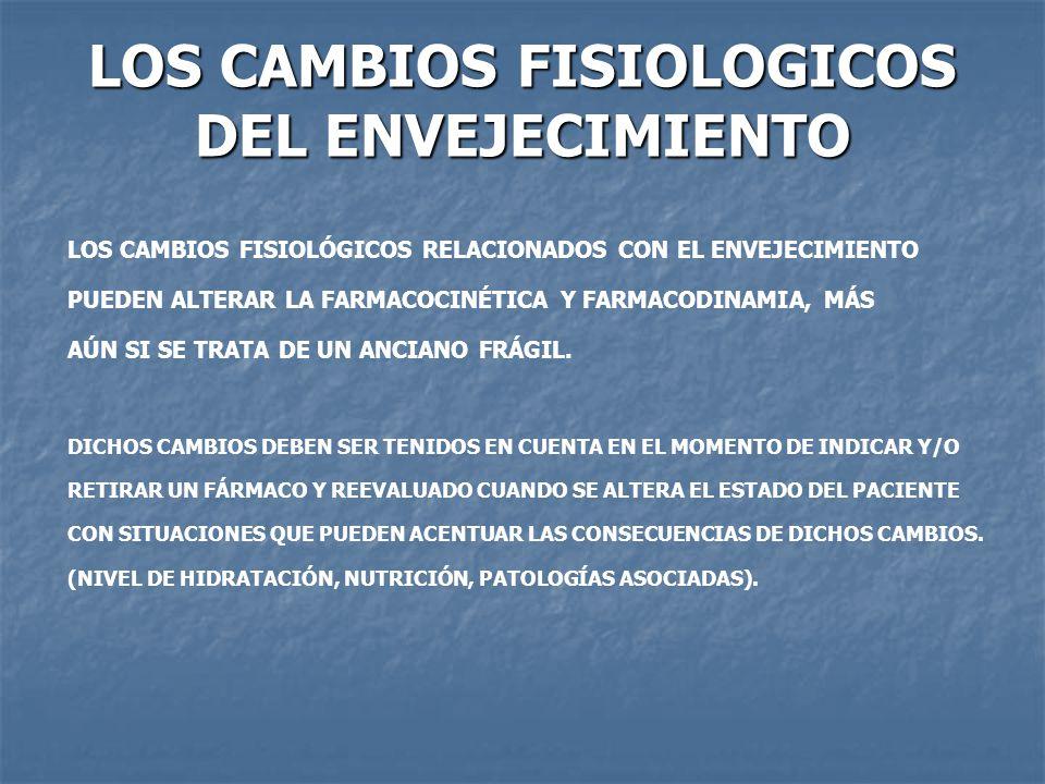 LOS CAMBIOS FISIOLOGICOS DEL ENVEJECIMIENTO