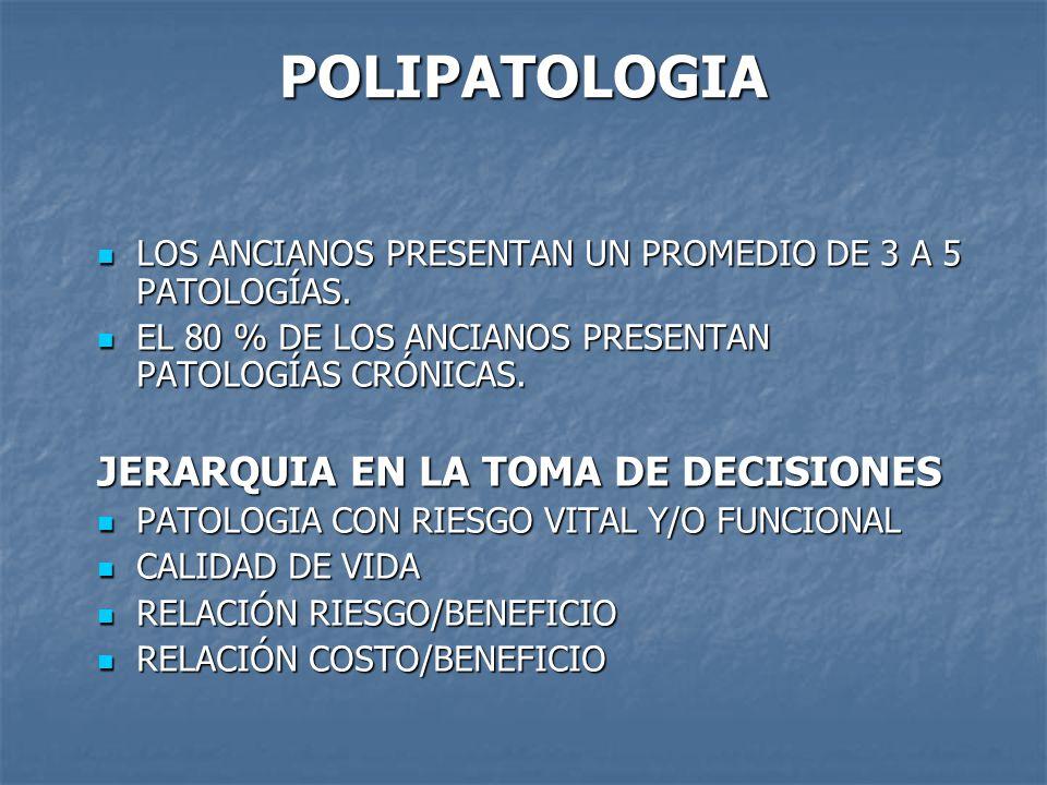 POLIPATOLOGIA JERARQUIA EN LA TOMA DE DECISIONES