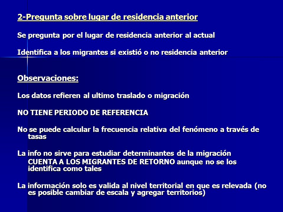 2-Pregunta sobre lugar de residencia anterior