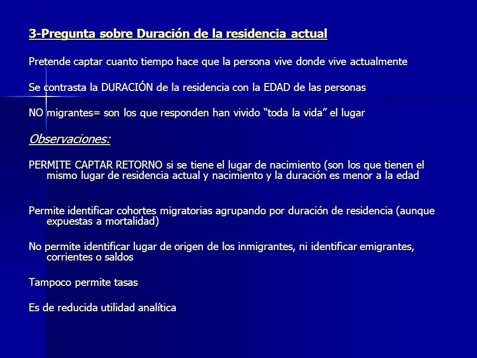 3-Pregunta sobre Duración de la residencia actual