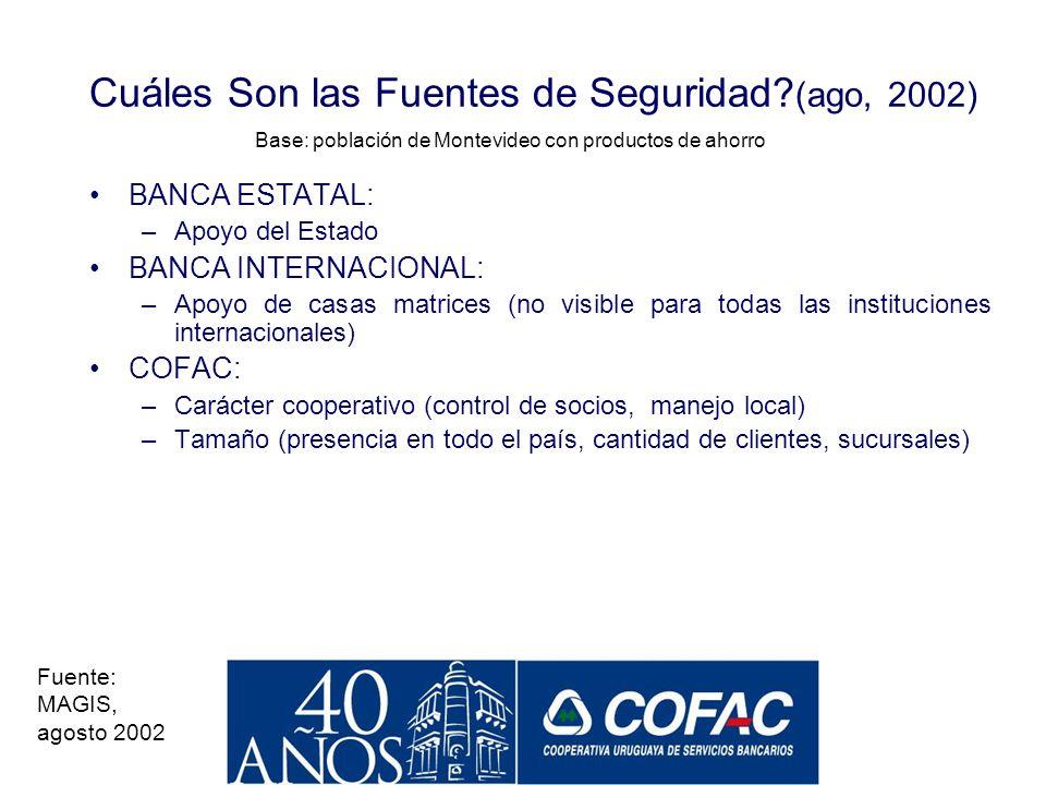 Cuáles Son las Fuentes de Seguridad (ago, 2002)