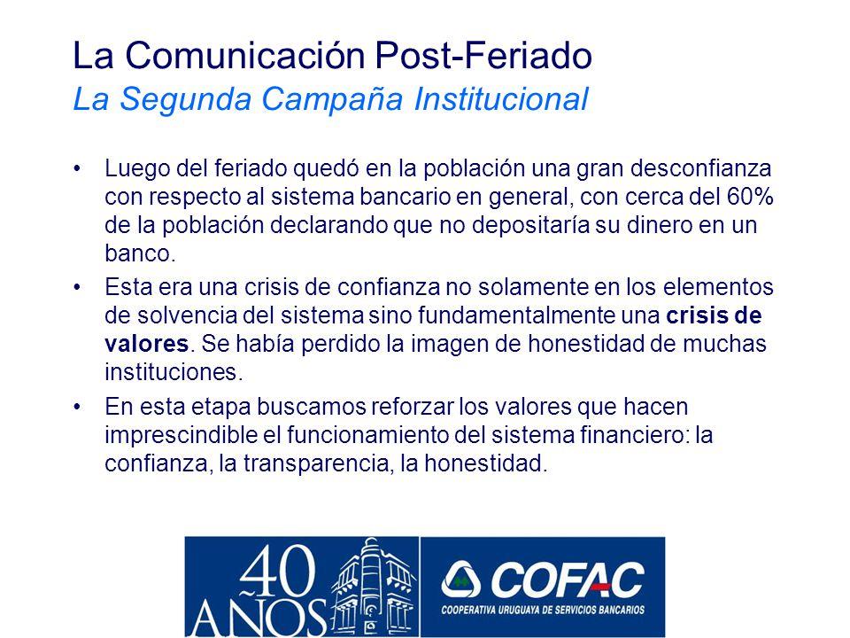 La Comunicación Post-Feriado La Segunda Campaña Institucional