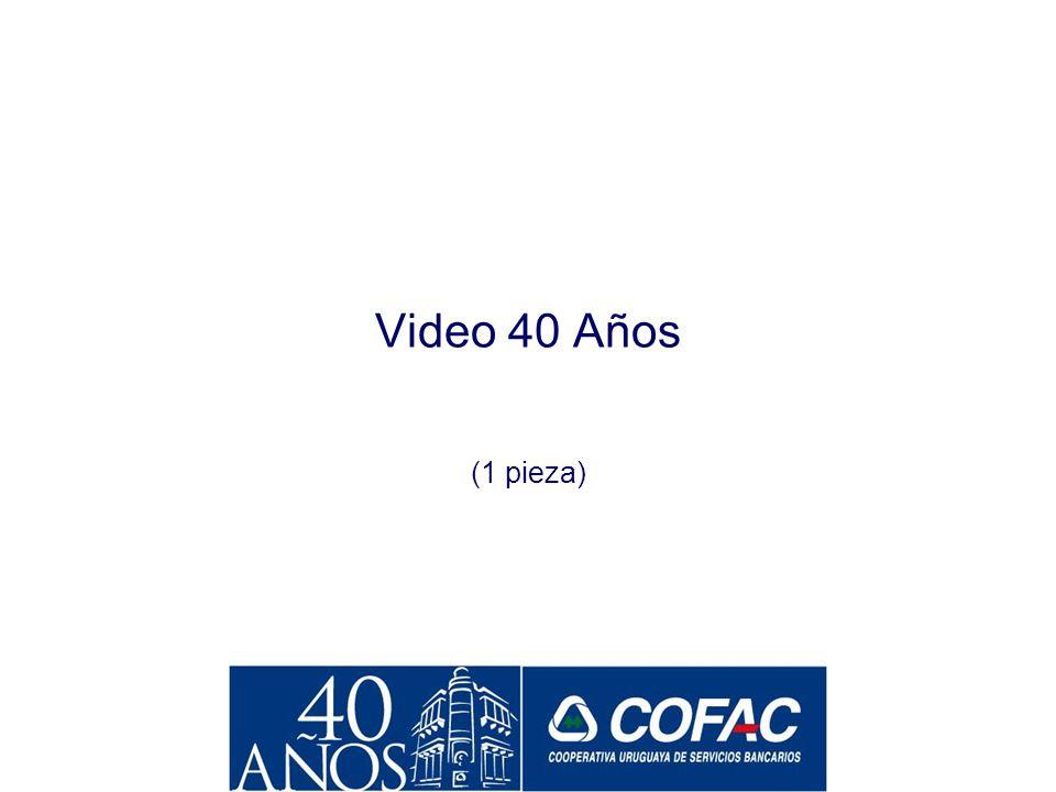 Video 40 Años (1 pieza)