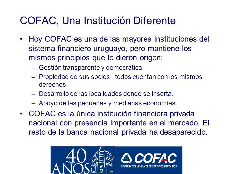 COFAC, Una Institución Diferente