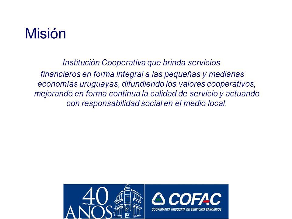 Institución Cooperativa que brinda servicios