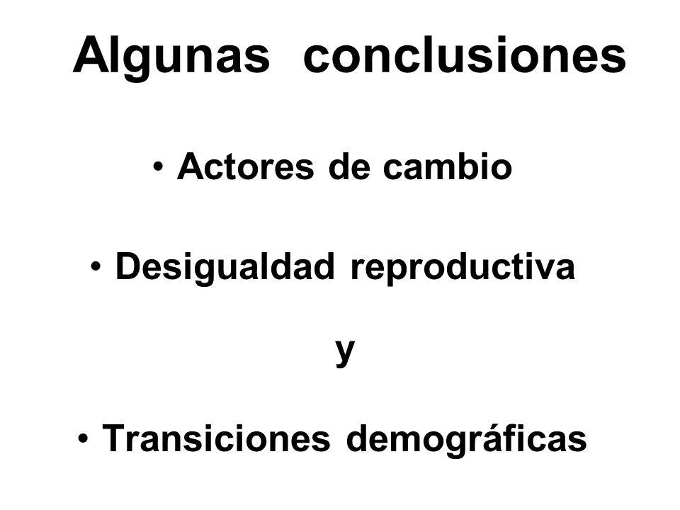 Desigualdad reproductiva y Transiciones demográficas