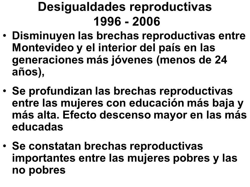 Desigualdades reproductivas 1996 - 2006