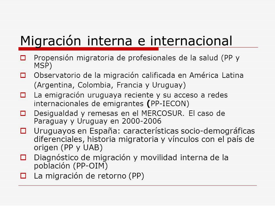 Migración interna e internacional