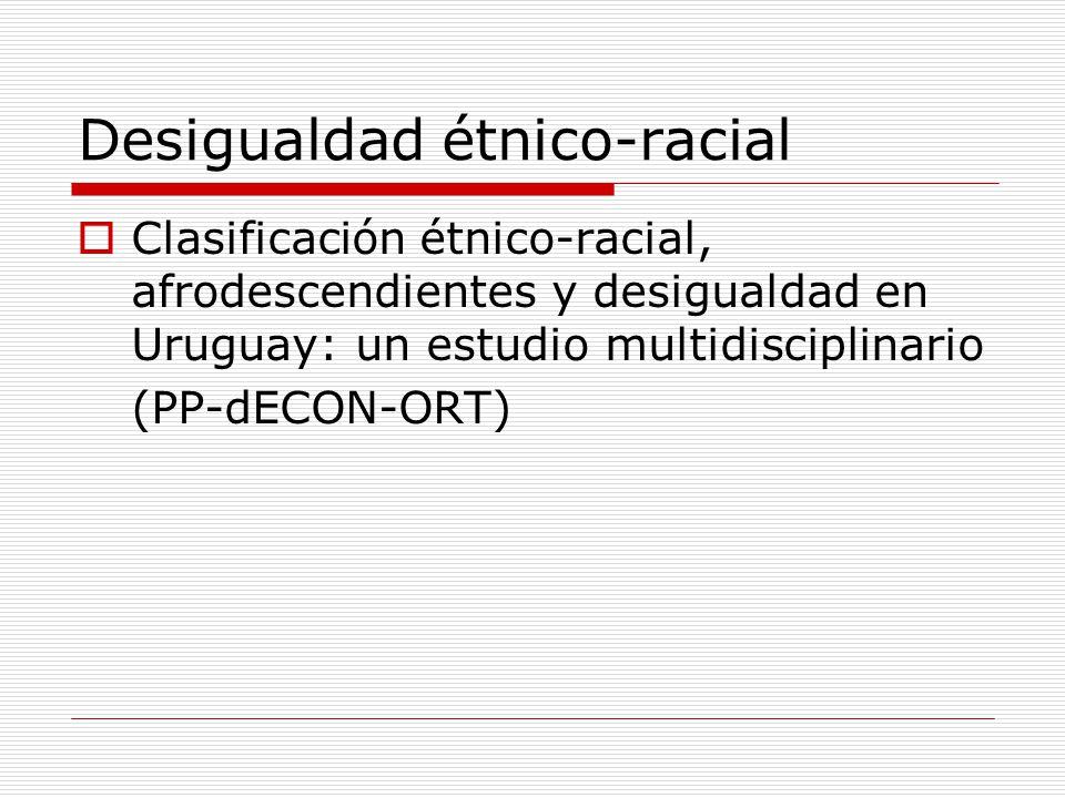 Desigualdad étnico-racial