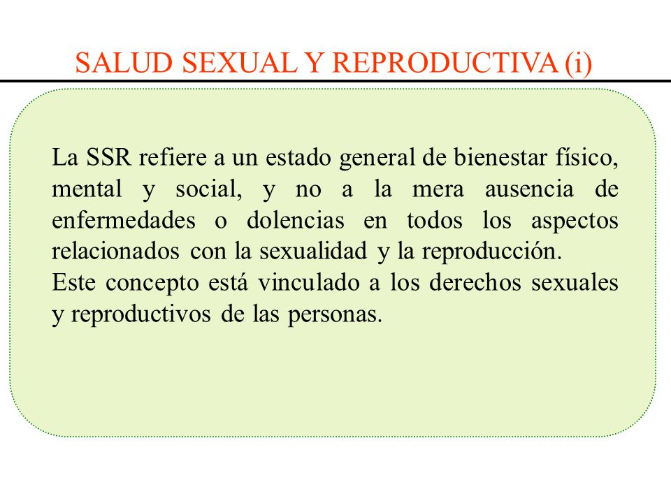 SALUD SEXUAL Y REPRODUCTIVA (i)