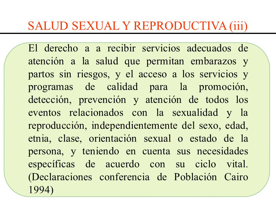 SALUD SEXUAL Y REPRODUCTIVA (iii)