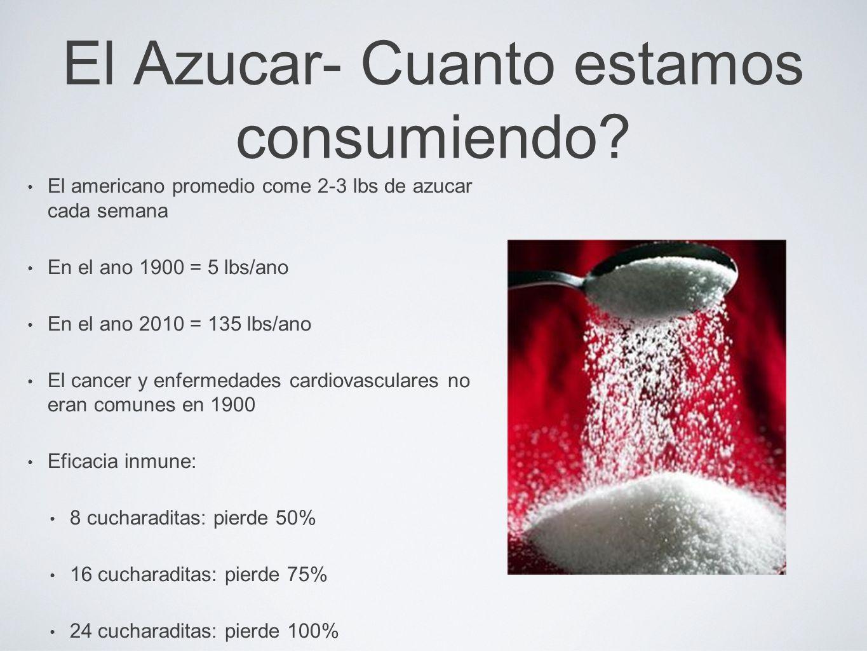 El Azucar- Cuanto estamos consumiendo