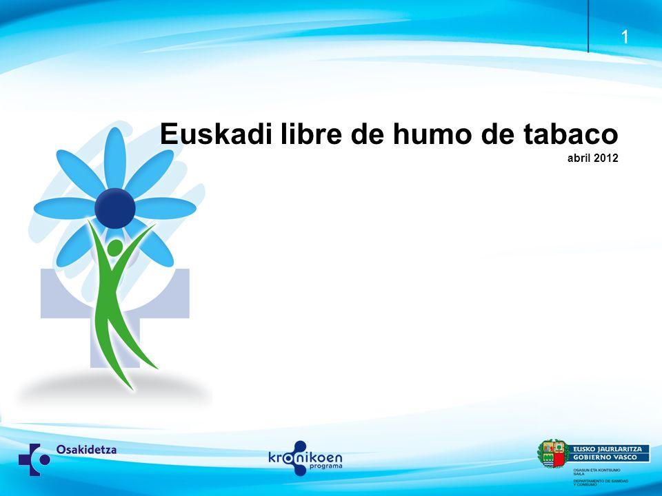Euskadi libre de humo de tabaco abril 2012