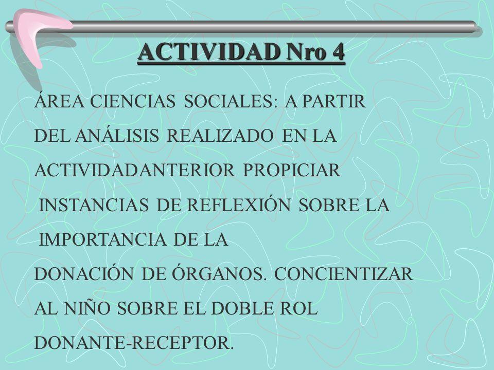 ACTIVIDAD Nro 4 ÁREA CIENCIAS SOCIALES: A PARTIR