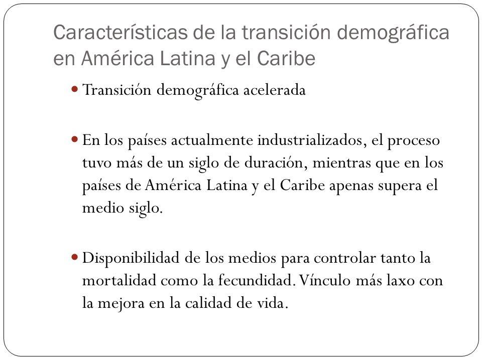 Características de la transición demográfica en América Latina y el Caribe