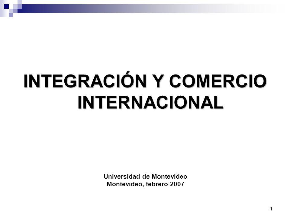 INTEGRACIÓN Y COMERCIO INTERNACIONAL Universidad de Montevideo