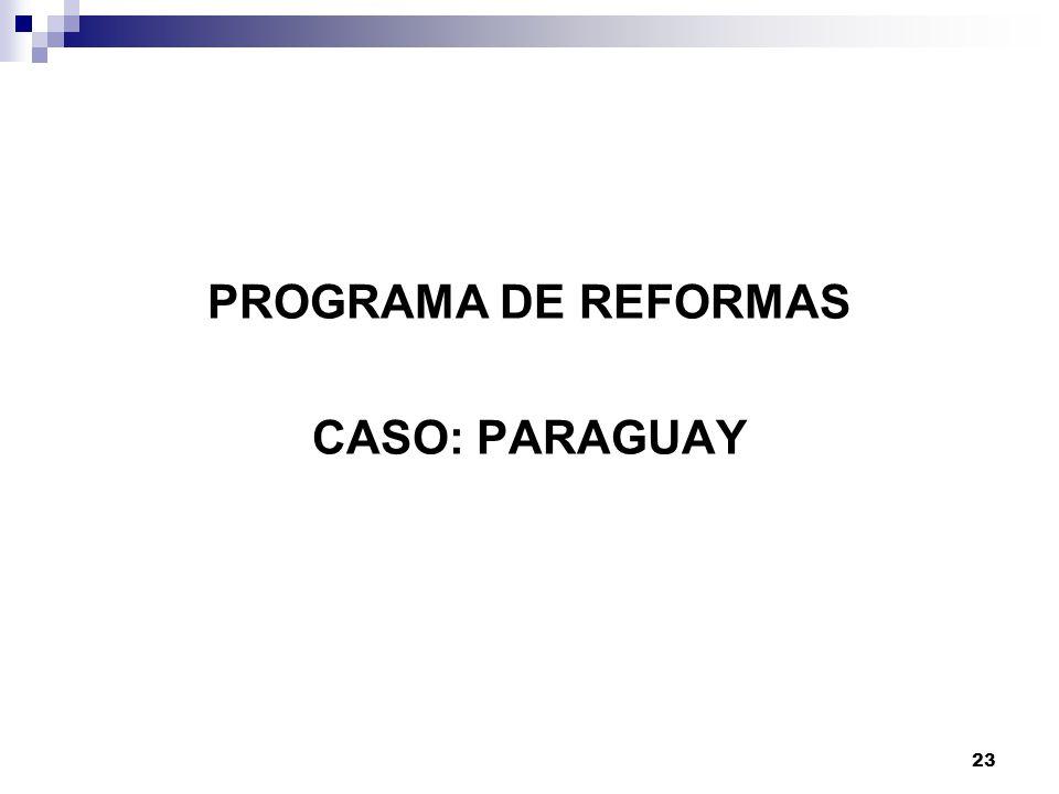 PROGRAMA DE REFORMAS CASO: PARAGUAY